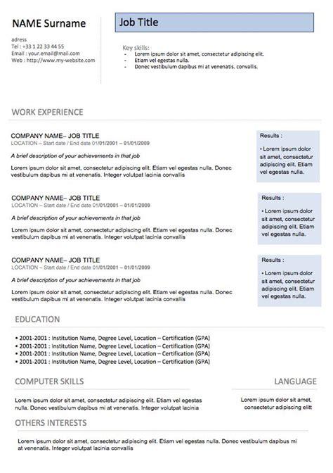 Chronological Resume Cv Modern Design by 25 Unique Chronological Resume Template Ideas On
