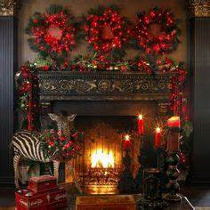 1000 images about Christmas Mantel Decorations on