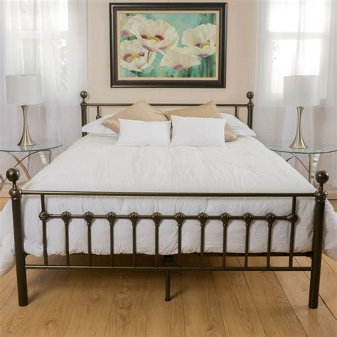 bedroom furniture dark copper gold iron metal queen size