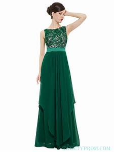 high chiffon long green bridesmaid dresses with lace top With long green dress for wedding