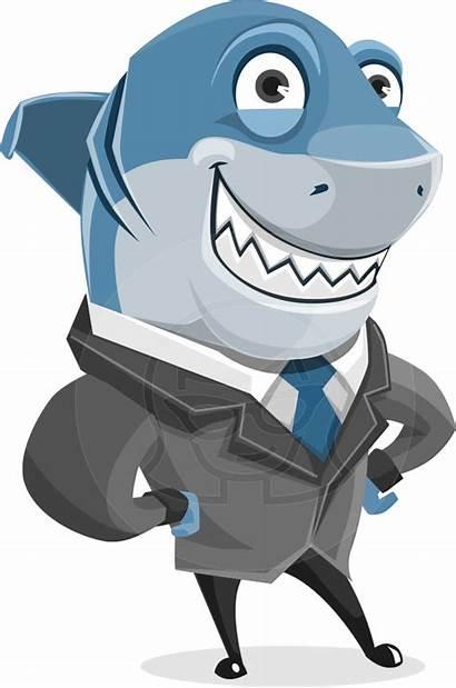 Shark Vector Character Cartoon Sharky Clipart Animal