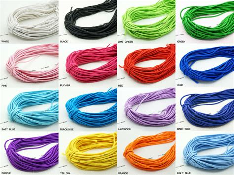 vire colored contacts 1mm 1 2mm 2mm 4mm coated elastic cord