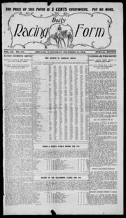 daily racing form n wednesday december 2 1914 daily racing form free download borrow