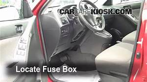 Interior Fuse Box Location  2003-2008 Pontiac Vibe