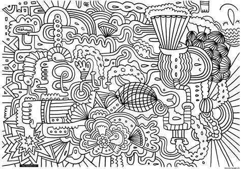 Get This Exciting Doodle Art Grown Up Coloring Pages Free