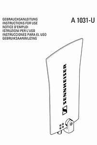 Sennheiser A 1031 U Instructions For Use Manual Pdf