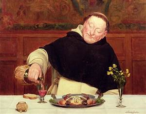 The Monk's Repast Painting by Walter Dendy Sadler