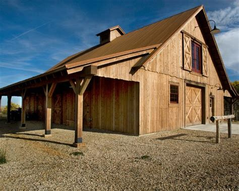 Barn Shop Ideas by Barn With Living Quarters Houzz
