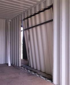 Découpe du container : portes et fenêtres de la maison