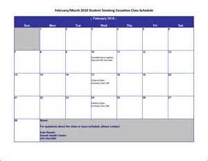 10 Week Calendar Template