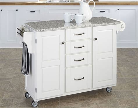white kitchen island  granite top  pros cons