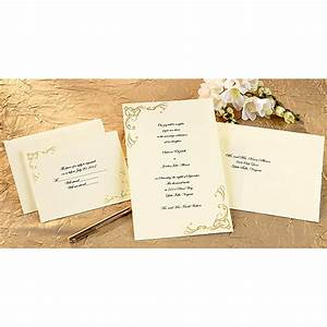 print your own invitations kit scrollwork gold 50 pkg With printing wedding invitations at walmart