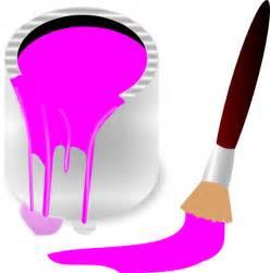 Pink Paint Brush Clip Art