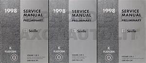 1998 Cadillac Seville Repair Shop Manual Original 3 Volume Set