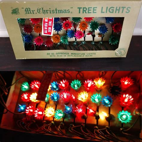 """set of """"mr christmas"""" lights 20 sh these lights are in working condition and are very"""
