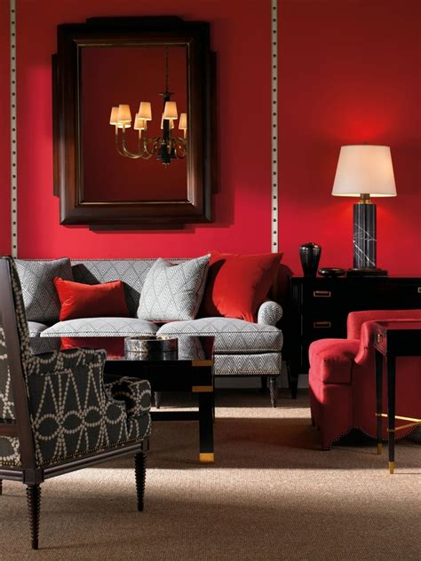 beautiful red living room design ideas decoration love