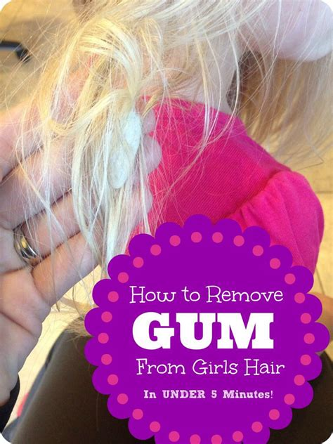 how to get gum out 20 tips to get gum out of your hair musely