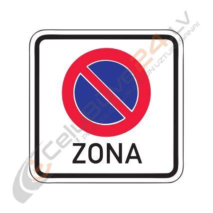 Norādījuma zīme Nr.523/Stāvēšanas aizlieguma zona ...