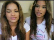Andrea and Brittany Gorgeous biracial twins Obsessed
