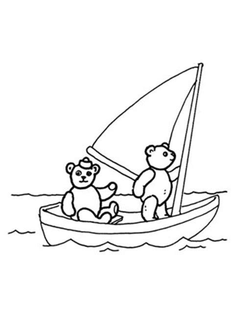 ausmalbilder baeren im segelboot spielsachen malvorlagen
