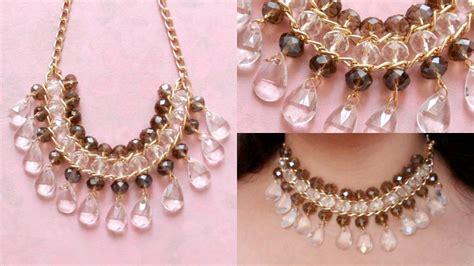 DIY Collar facil con cadena / EASY NECKLACE ♥ YouTube