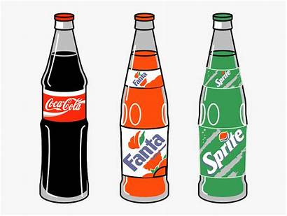Clipart Soda Bottle Soft Drink Pouring Transparent