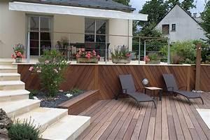paysagiste creation jardins saumur entreprise berjamin With superb amenagement terrasse piscine exterieure 0 creation et amenagement de terrasse en bois paysagiste