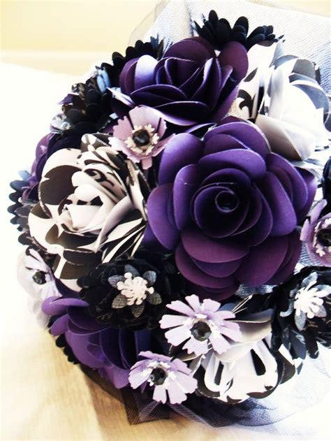 black  purple wedding flowers