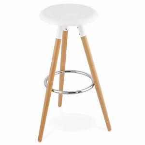 Tabouret Bois Design : tabouret bois de bar design scandinave 3 pieds pierrot blanc naturel ~ Teatrodelosmanantiales.com Idées de Décoration