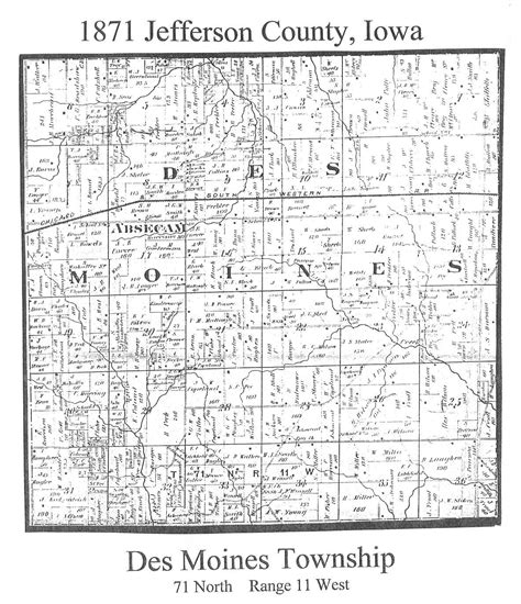 gasl owners des moines 1871 map of jefferson county property owners