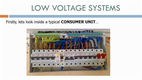 electrical consumer unit wiring