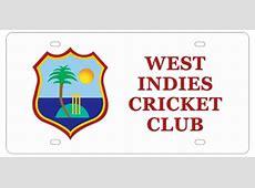 WEST INDIES CRICKET CLUB WHITE LICENSE PLATEBARBADOS