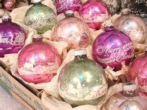 yummy pastels antique christmas ornaments pinterest