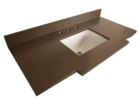 home depot sink tops bellaterra 45 inch w quartz vanity top in taupe with