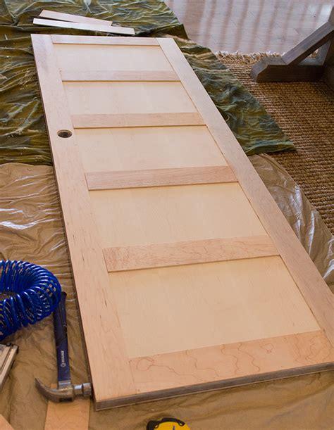 how to make flat panel cabinet doors 5 panel door from a flat hollow core door remodelaholic
