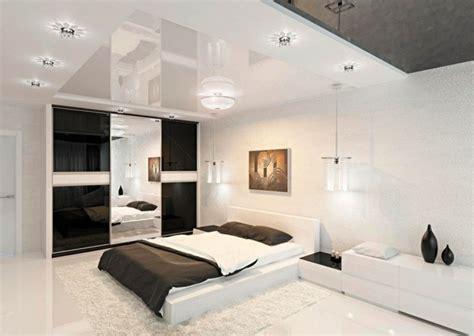 chambre ultra moderne déco noir et blanc avec touches de couleur chambre à coucher