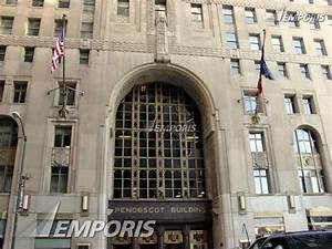 Main entrance on Griswold Street, Penobscot Building ...