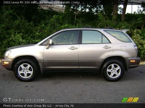 gold lexus rx burnished gold metallic 2001 lexus rx 300 awd ivory