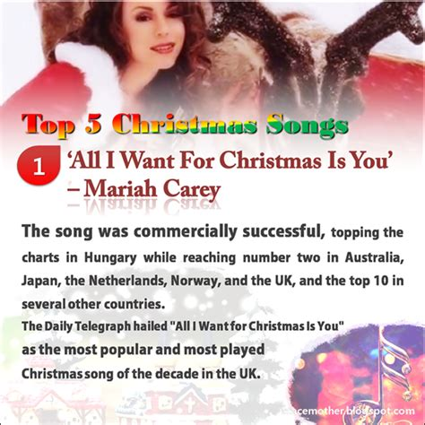 Peace Mother Top 5 Christmas Songs, What Christmas Song Do You Like Most?