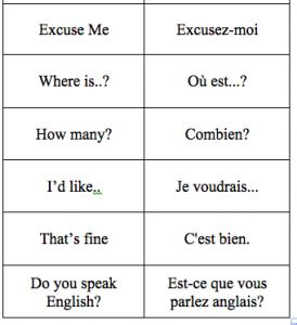 French 101 - the basics... need to start learning this ...