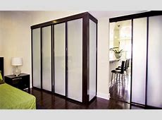 Freestanding Sliding Glass Closet Doors