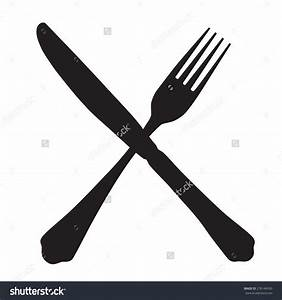 Crossed Fork And Knife Clipart - ClipartXtras