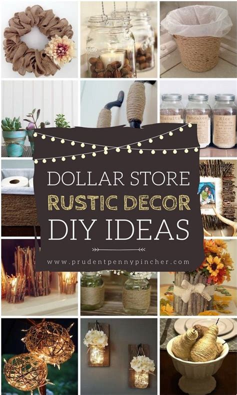 dollar store rustic home decor ideas cheap diy home