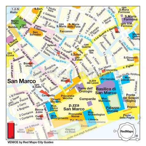 venice map  city guide  red maps