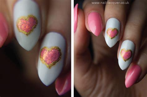 heart nail art nail lacquer uk