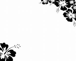Flower Border Design Black And White