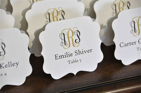 die cut place cards wiregrass weddings