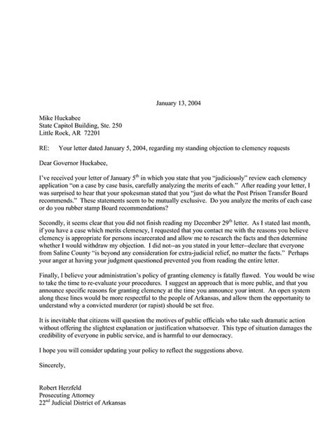 Sample Pardon Letter Template
