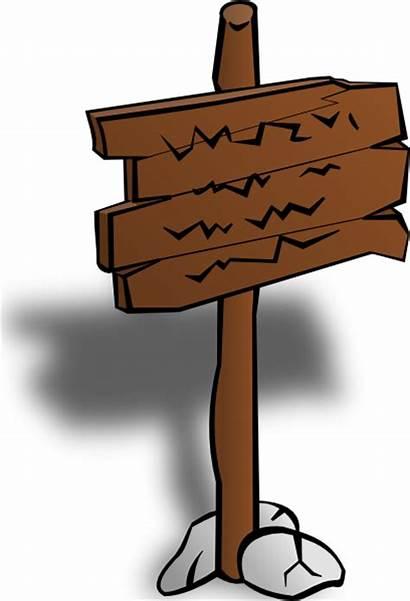 Sign Clip Clipart Cartoon Vector Signpost Svg