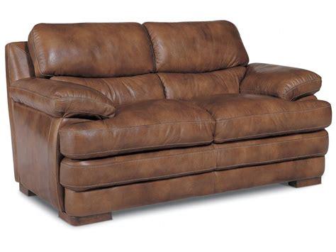 Flexsteel Loveseat by Flexsteel Living Room Leather Loveseat Without Nailhead